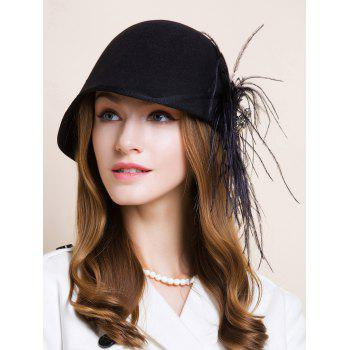 Long Feathers Rhinestone 1920s Fedora Hat