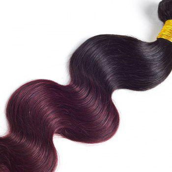 1 Pcs Body Wave Ombre Brazilian 6A Virgin Hair Weave - multicolorcolore 18INCH