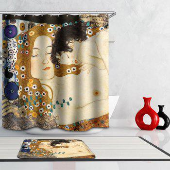 Artistic Mother Love Design Waterproof Mouldproof Shower Curtain