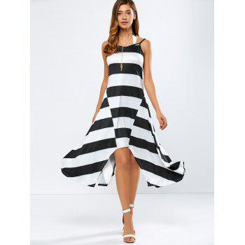 Casual Striped Midi Tank Summer Dress
