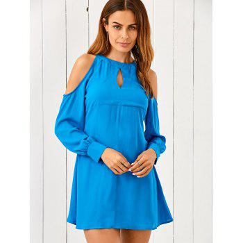 Cut Out Chiffon Cold Shoulder Dress