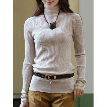 Ribbed Stretchy Slimming Knitwear