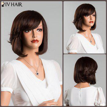 Straight Oblique Bang Short Bob Human Hair Wig