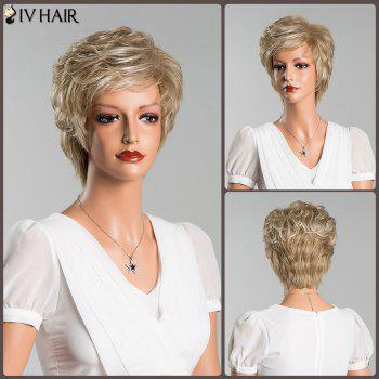 Layered Shaggy Short Curly Oblique Bang Human Hair Wig