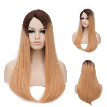 Long Side Parting Ombre Tail Adduction Straight Synthetic Wig