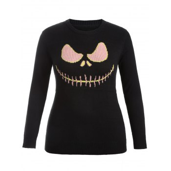 Cartoon Pattern Cute Plus Size Sweater