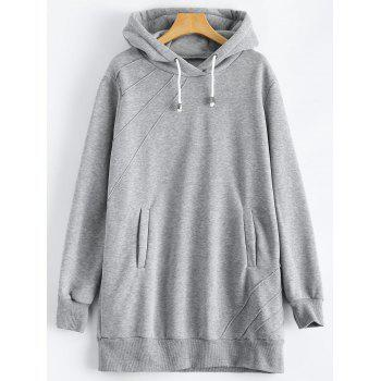 Pullover Hoodie with Pockets - GRAY GRAY