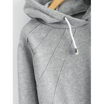 Pullover Hoodie with Pockets - GRAY XL