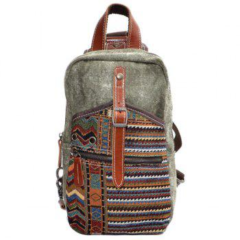 Canvas Buckle Strap Chest Bag
