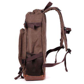 Toile Splicing Zippers Backpack - Bis