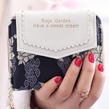 Tassels Floral Small Wallet - BLACK BLACK