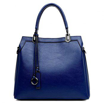 Textured PU Leather Pendant Tote