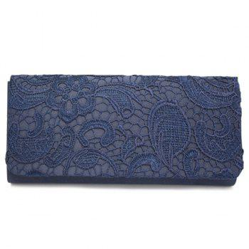 Cover Lace Evening Clutches - CADETBLUE CADETBLUE
