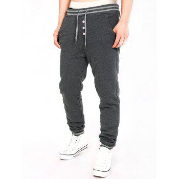 Single-Breasted Stripe Splicing Jogger Pants