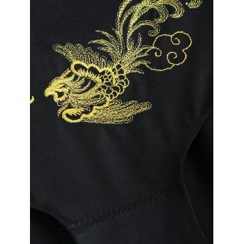 Phoenix Embroidered One Piece Briefs - BLACK L
