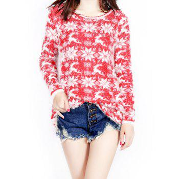 Christmas Jacquard Loose Sweater