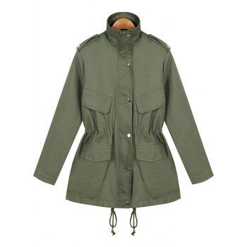 String Loose Utility Coat