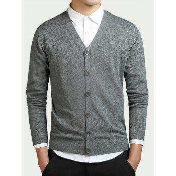 Single Breasted V-Neck Slimming Cardigan