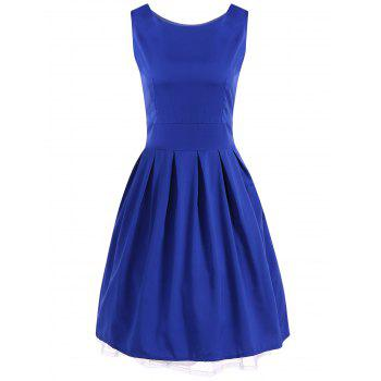 Scoop Neck Vintage Swing Dress