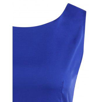 Sleeveless Vintage Skater Cocktail Dress - ROYAL BLUE ROYAL BLUE