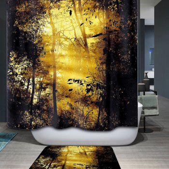 3D Nature Sunshine Waterproof Shower Curtain Bath Decor