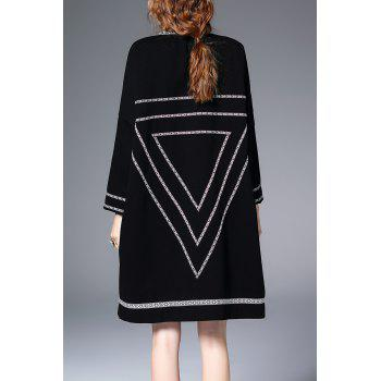 Oversized Longline Coat - BLACK M