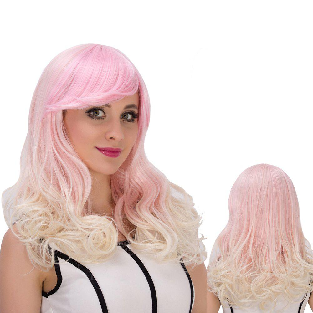 Fascinating Colored Long Side Bang Wavy Synthetic Cosplay WigHair<br><br><br>Color: COLORMIX