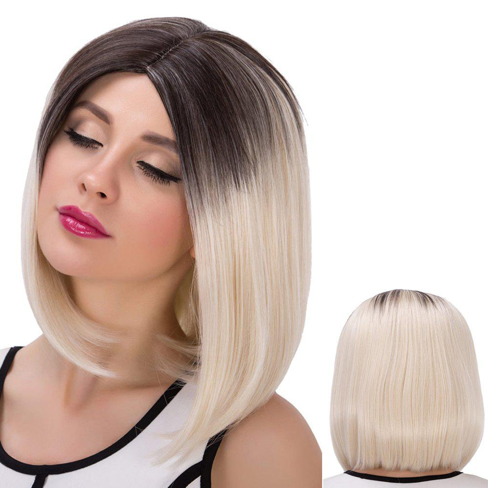 Medium Straight Colormix Centre Parting Synthetic WigHair<br><br><br>Color: COLORMIX