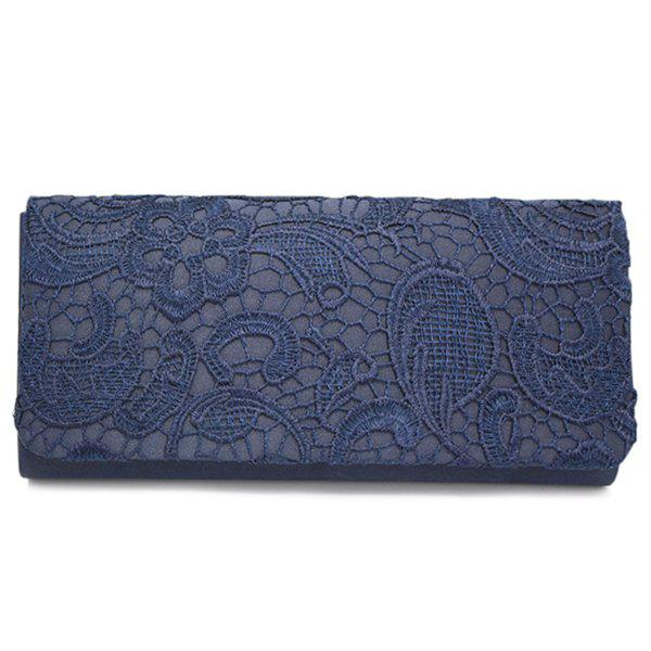 Cover Lace Evening Clutch - Bleu Cadette