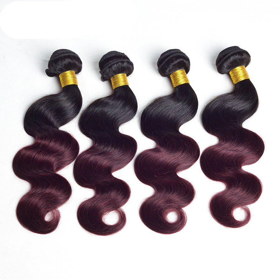 1 Pcs Body Wave Ombre Brazilian 6A Virgin Hair Weave - COLORMIX 12INCH
