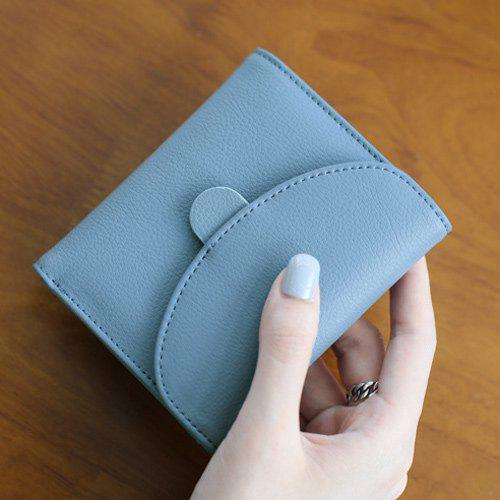 Snap bouton Petit Vintage Simple Flap Wallet - Bleu