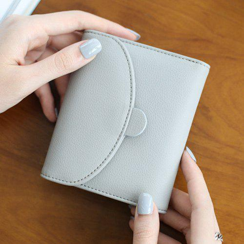 Snap bouton Petit Vintage Simple Flap Wallet - Gris