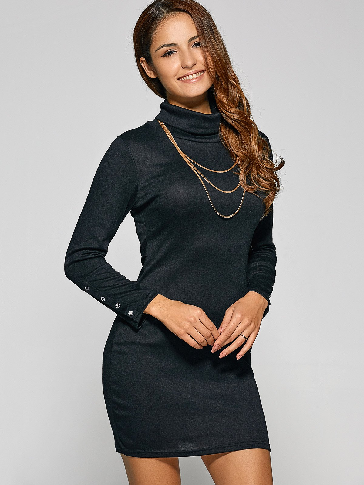 Brand black bodycon dress long sleeve low back queanbeyan and jackets