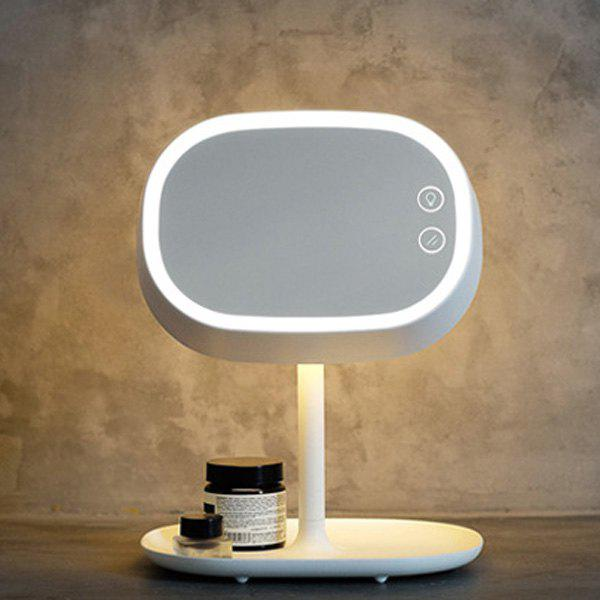 Creative Charging LED Make Up Table Mirror Lamp - WHITE
