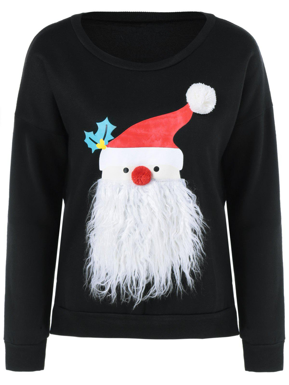 Christmas Sweater Fuzzy - Noir XL