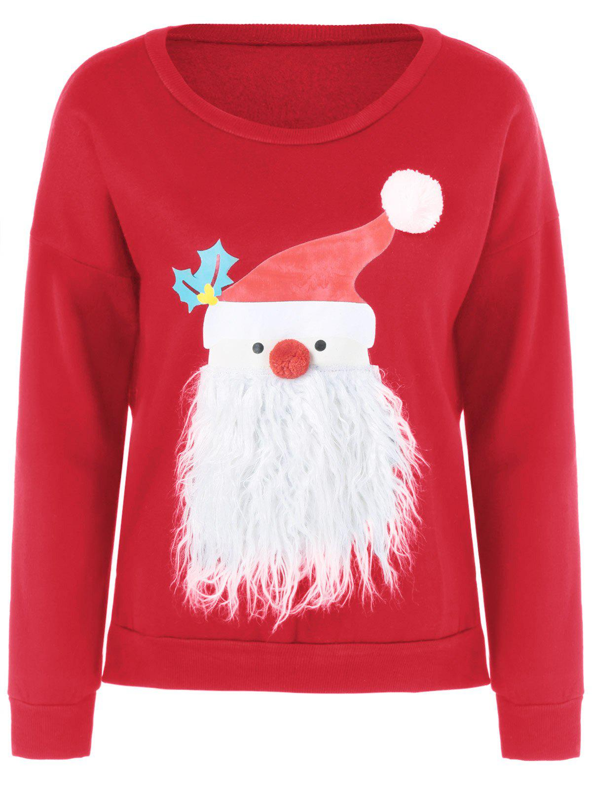 Christmas Fuzzy Sweater - RED L