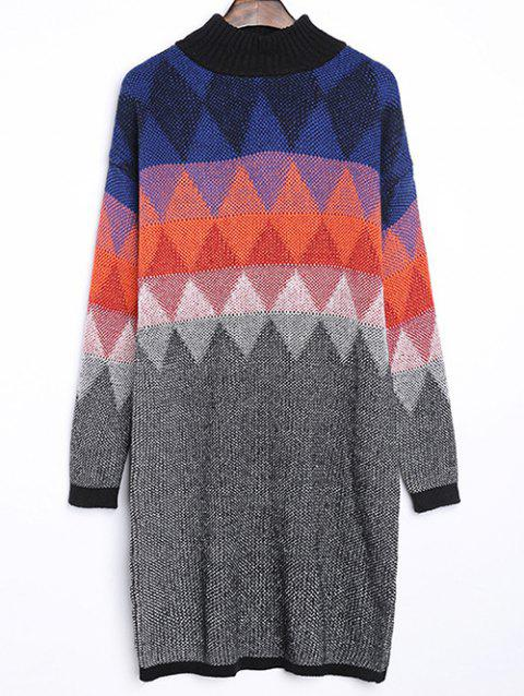 Argyle Jacquard ample Sweater Dress - multicolore ONE SIZE