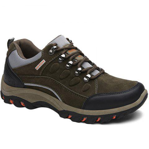 Colour Block Metal Splicing Athletic Shoes - ARMY GREEN 43