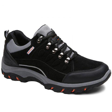 Colour Block Metal Splicing Athletic Shoes - BLACK 40