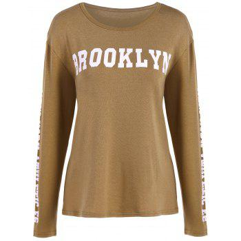 Brooklyn Graphic Slimming T-Shirt - KHAKI KHAKI