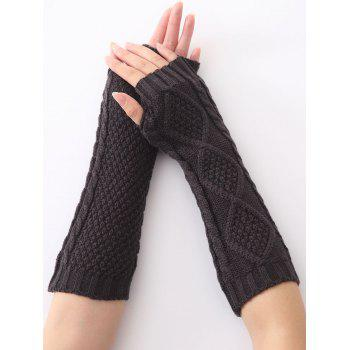 Christmas Winter Warm Diamond Hollow Out Crochet Knit Arm Warmers