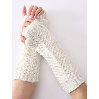 Christmas Winter Warm Fishbone Crochet Knit Arm Warmers