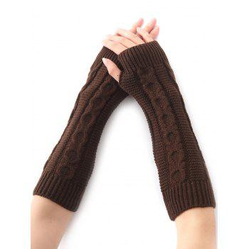 Christmas Winter Warm Hemp Decorative Pattern Crochet Knit Arm Warmers