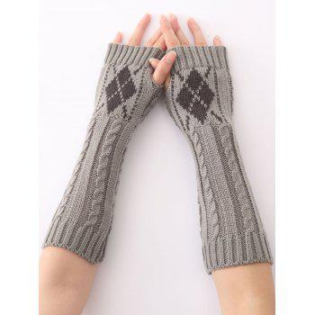 Winter Warm Hemp Decorative Pattern Diamond Crochet Knit Arm Warmers