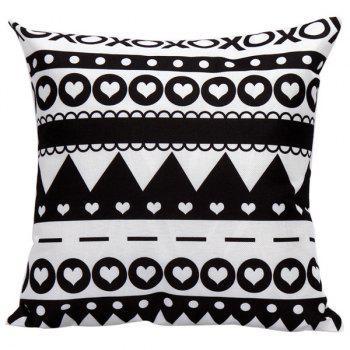 Geometrics Heart Pattern Decorative Super Soft Household Pillow Case