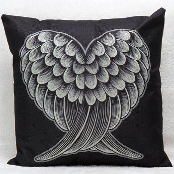 Red and Black Heart Wings Decorative Super Soft Household Pillow Case