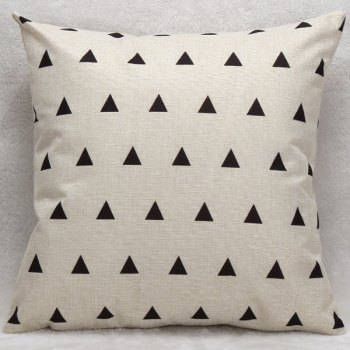 Little Triangles Decorative Soft Household Pillow Case