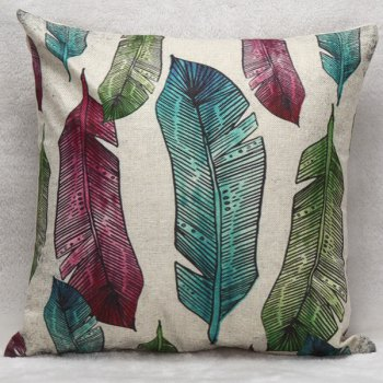 Banana Leaves Decorative Soft Household Pillow Case