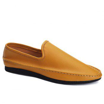 Stylish Solid Colour and PU Leather Design Men's Casual Shoes