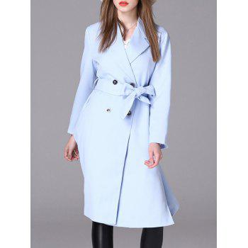 Long Belted Double Breasted Coat